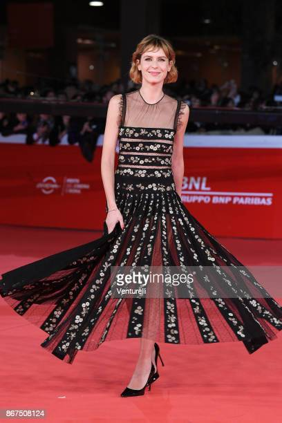 Elena Radonicich walks a red carpet for 'Stronger' during the 12th Rome Film Fest at Auditorium Parco Della Musica on October 28 2017 in Rome Italy