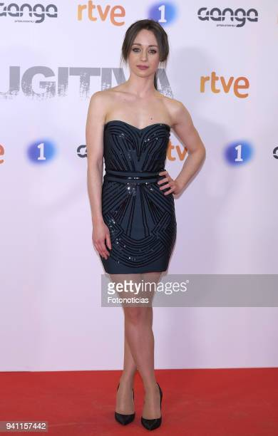Elena Rivera attends the 'Fugitiva' Tv series premiere at Callao cinema on April 2 2018 in Madrid Spain