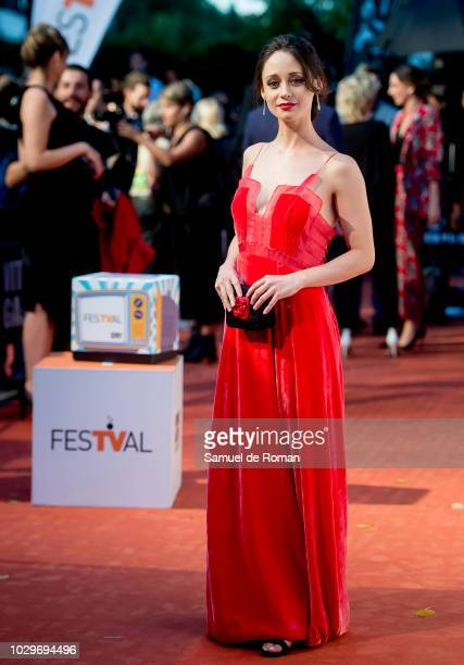 Elena Rivero attends red carpet closing day during FesTVal 2018 on September 8 2018 in VitoriaGasteiz Spain