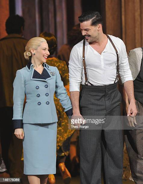 Elena Roger and Ricky Martin perform from 'Evita' onstage at the 66th Annual Tony Awards at The Beacon Theatre on June 10 2012 in New York City