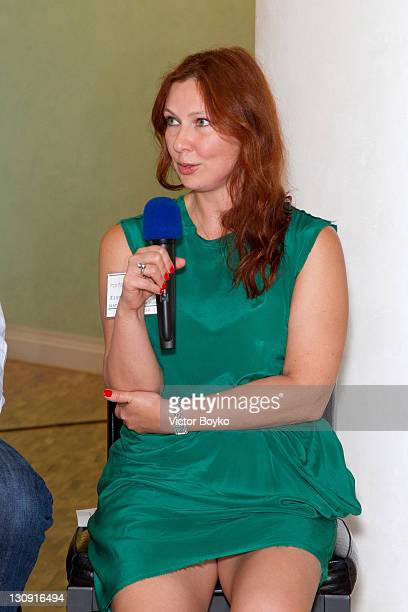 Elena Romanova at the Film Finance Forum at the Radisson Royal Hotel on June 24, 2011 in Moscow, Russia.