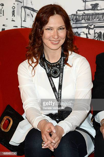 Elena Romanova attends the photocall for the Taromina Film Festival Presentation at The 66th Annual Cannes Film Festival at the Italian Pavilion on...