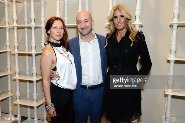 Elena Romanova Lorenzo Avanzi and Tiziana Rocca attend Sicily Outlet Village Taormina Filmfest Dinner Taormina Filmfest 2013 at Sicily Outlet Village...