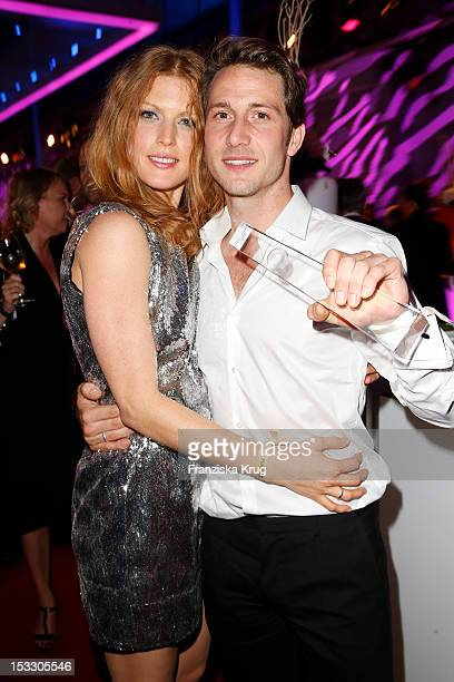 Elena Rott and David Rott attend the German TV Award 2012 at Coloneum on October 2 2012 in Cologne Germany