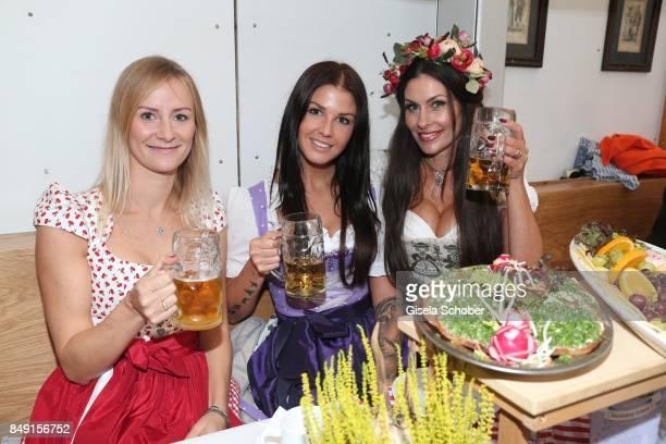 Elena Rudy wife of FC Bayern soccer player Sebastian Rudy Lina Meyer girlfriend of FC Bayern soccer player Josua Kimmich and blogger influencer...