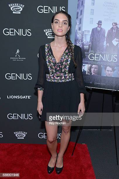 Elena Rusconi attends Genius New York premiere at Museum of Modern Art on June 5 2016 in New York City