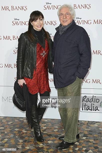 Elena Russo and Gianni Quaranta attend the 'Saving Mr Banks' premiere at The Space Moderno on February 6 2014 in Rome Italy