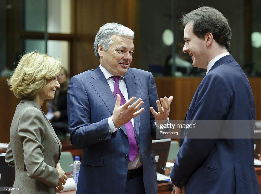 European Finance Ministers Meet In Brussels