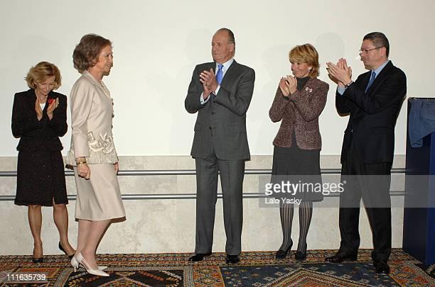 Elena Salgado TRH King Juan Carlos and Queen Sofia Esperanza Aguirre and Alberto Ruiz Gallardon
