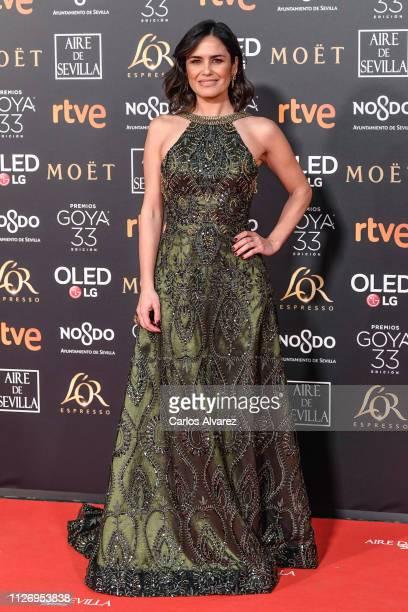 Elena Sanchez attends the Goya Cinema Awards 2019 during the 33rd edition of the Goya Cinema Awards at Palacio de Congresos y Exposiciones FIBES on...