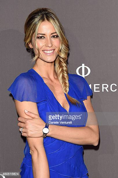 Elena Santarelli attends Baume Mercier Promesse New Women Collection Launch at Teatro Vetra on June 12 2014 in Milan Italy