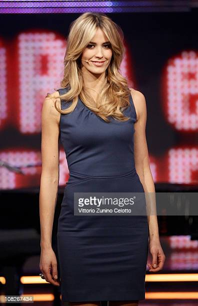 "Elena Santarelli attends ""Chiambretti Night"" Italian TV Show held at Mediaset Studios on January 23, 2011 in Milan, Italy."