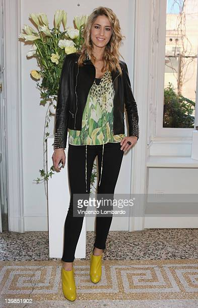 Elena Santarelli attends Giuseppe Zanotti Design Press Day as part of Milan Womenswear Fashion Week on February 24 2012 in Milan Italy