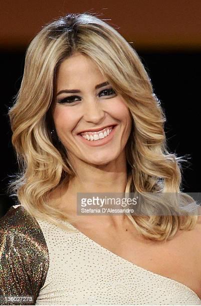 Elena Santarelli attends 'Kalispera' Italian TV Show on December 16, 2011 in Milan, Italy.