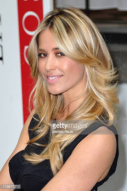 Elena Santarelli attends LaClinique Cosmetic Surgery Contest on March 22 2011 in Milan Italy