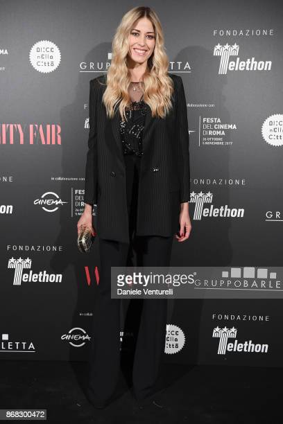 Elena Santarelli attends Telethon Gala during the 12th Rome Film Fest at Villa Miani on October 30 2017 in Rome Italy