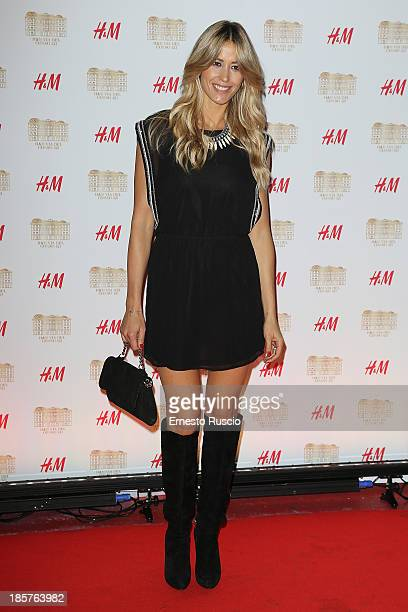 Elena Santarelli attends the HM Flagship Store Opening at Via Del Corso on October 24 2013 in Rome Italy