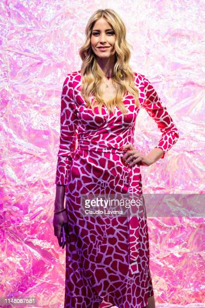 Elena Santarelli attends the Huawei Fashion Flair event on May 09, 2019 in Milan, Italy.