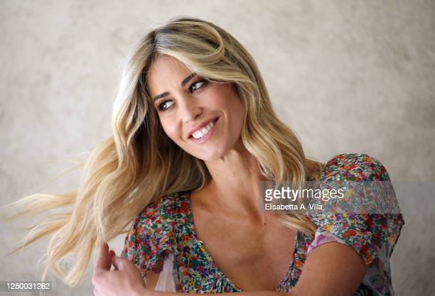 "Elena Santarelli attends the ""Italia Si, Morning"" Tv show photocall in Rai Saxa Rubra on June 16, 2020 in Rome, Italy."