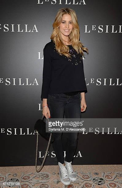 Elena Santarelli attends the Le Silla - Fall/Winter 2014-15 Collection Presentation as part of Milan Fashion Week Womenswear Autumn/Winter 2014 on...