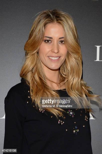 Elena Santarelli attends the Le Silla Fall/Winter 201415 Collection Presentation as part of Milan Fashion Week Womenswear Autumn/Winter 2014 on...