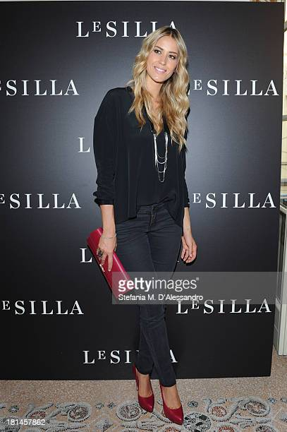 Elena Santarelli attends the Le Silla Presentation as part of Milan Fashion Week Womenswear Spring/Summer 2014 on September 21, 2013 in Milan, Italy.