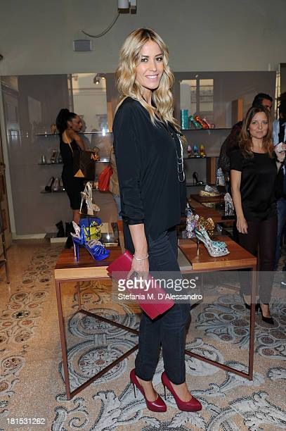 Elena Santarelli attends the Le Silla Presentation as part of Milan Fashion Week Womenswear Spring/Summer 2014 on September 21 2013 in Milan Italy