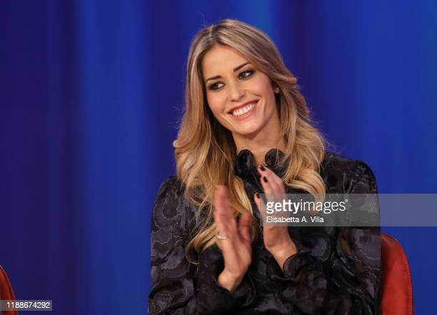 Elena Santarelli attends the Maurizio Costanzo Show on November 19, 2019 in Rome, Italy.