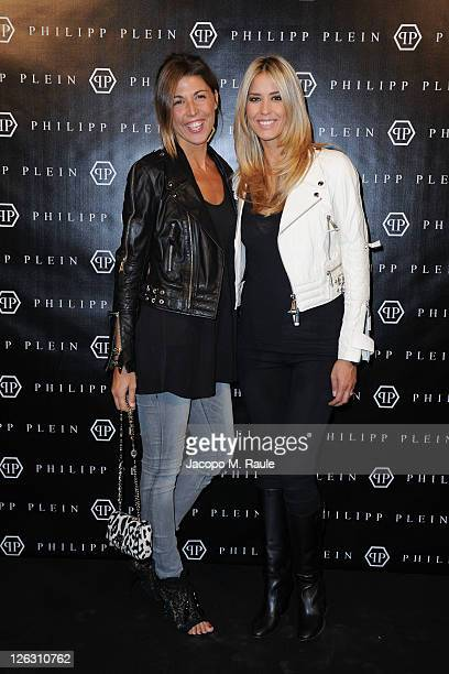 Elena Santarelli attends the Philipp Plein Urban Jungle Spring/Summer 2012 fashion show as part Milan Womenswear Fashion Week on September 24 2011 in...