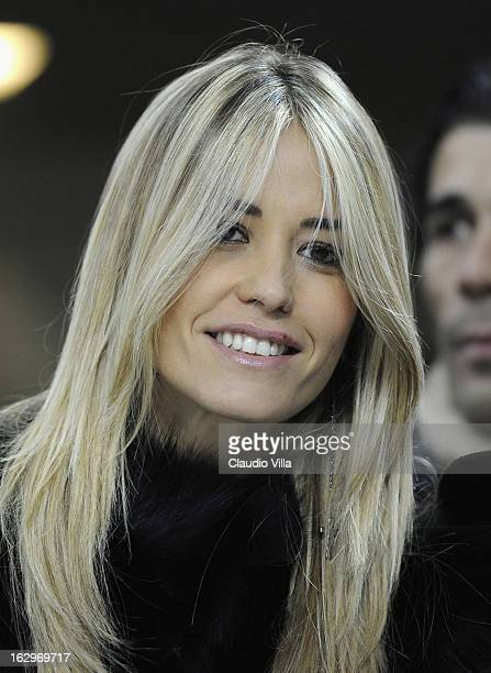 Elena Santarelli attends the Serie A match between AC Milan and SS Lazio at San Siro Stadium on March 2 2013 in Milan Italy