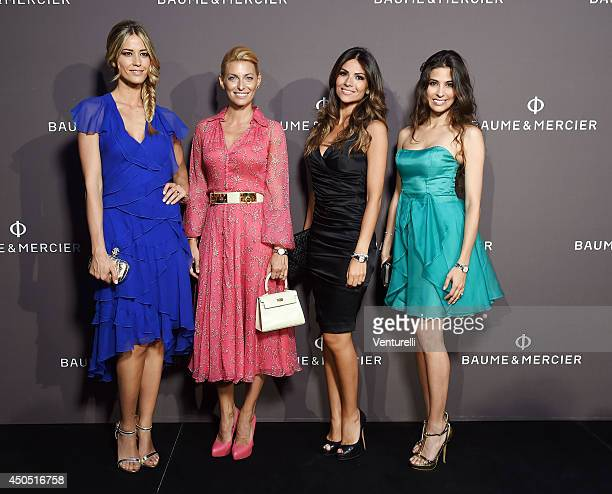 Elena Santarelli Federica Fontana Sara Ventura and Ariadna Romero attend Baume Mercier Promesse New Women Collection Launch at Teatro Vetra on June...