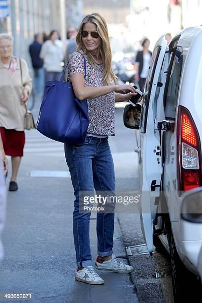 Elena Santarelli is seen on May 24 2014 in Milan Italy