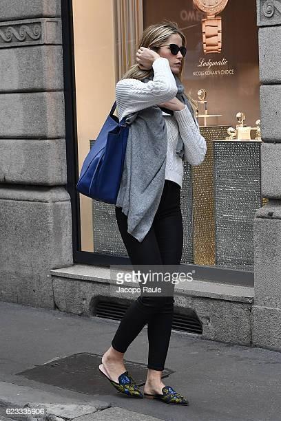 Elena Santarelli is seen on November 15 2016 in Milan Italy