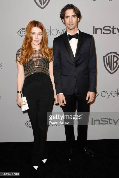 Elena Satine and Tyson Ritter attend 19th Annual PostGolden Globes Party hosted by Warner Bros Pictures and InStyle at The Beverly Hilton Hotel on...