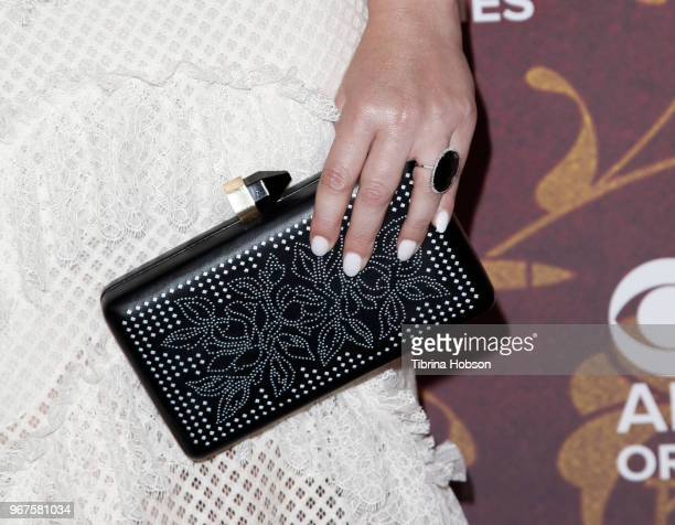 Elena Satine fashion detail attends the premiere of 'Strange Angel' at Avalon on June 4 2018 in Hollywood California