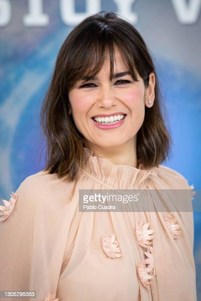 Elena Sánchez attends 'Estoy Vivo' photocall at RTVE on March 04, 2021 in Madrid, Spain.