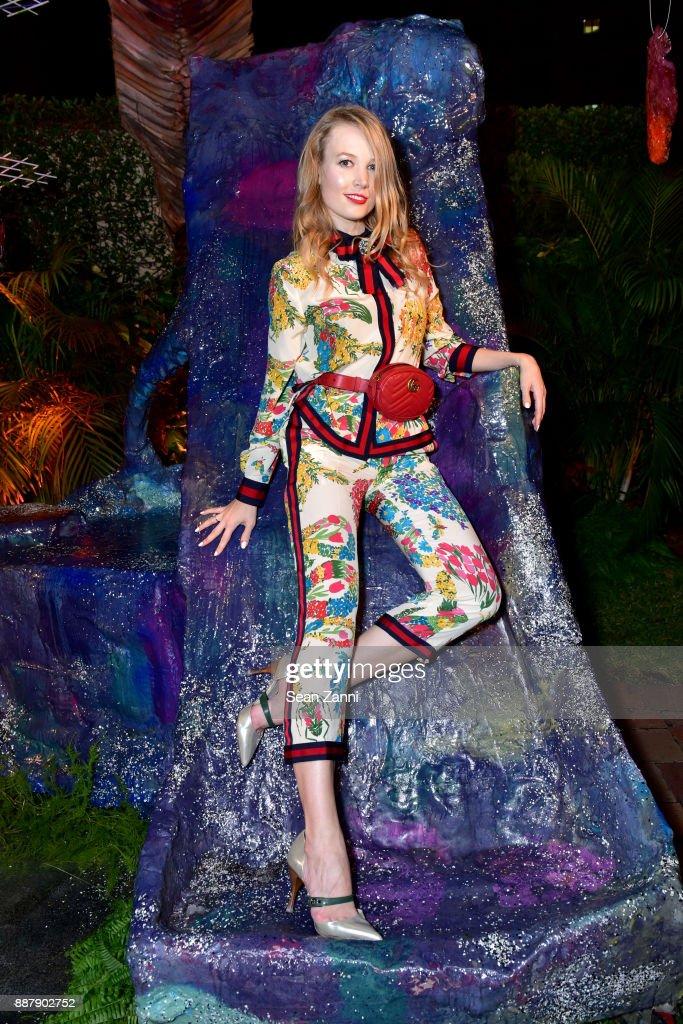 Elena Soboleva attends Artsy Projects Miami VIP at The Bath Club on December 6, 2017 in Miami Beach, Florida.