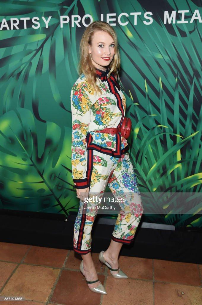 Elena Soboleva attends the Artsy Projects Miami x Gucci: Special Thanks to Bombay Sapphire at The Bath Club on December 6, 2017 in Miami Beach, Florida.