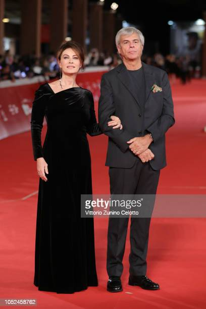 Elena Sofia Ricci and Stefano Mainetti walk the red carpet ahead of the Bad Times At The El Royale screening during the 13th Rome Film Fest at...