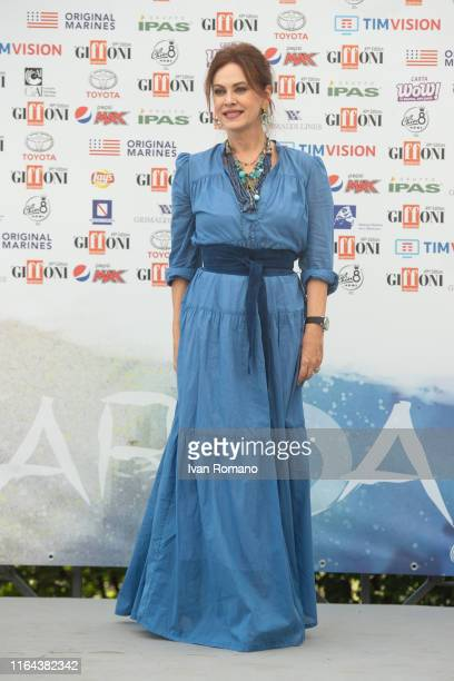 Elena Sofia Ricci attends Giffoni Film Festival 2019 on July 26 2019 in Giffoni Valle Piana Italy