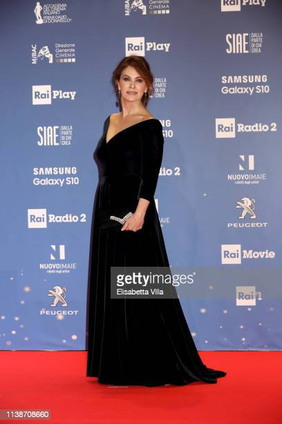 Elena Sofia Ricci attends the 64 David Di Donatello awards on March 27 2019 in Rome Italy