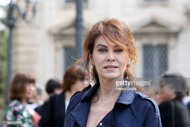 Elena Sofia Ricci attends the 64 David Di Donatello Nominees at Quirinale on March 27 2019 in Rome Italy