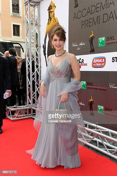 Elena Sofia Ricci attends the 'David Di Donatello' movie awards at the Auditorium Conciliazione on May 7 2010 in Rome Italy