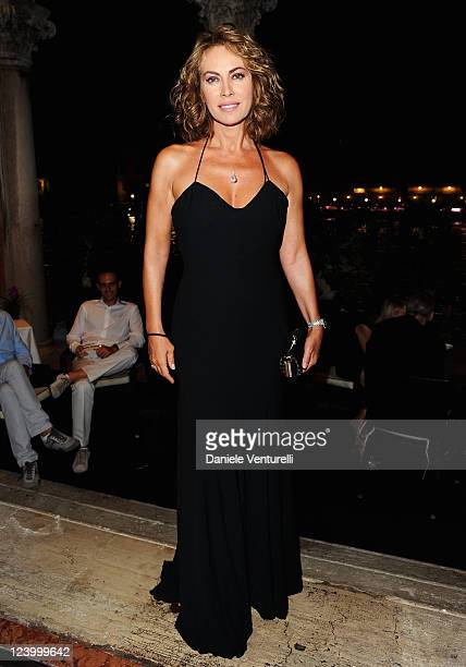 Elena Sofia Ricci attends the Diva e Donna and Too Be Boccadamo Party on September 7 2011 in Venice Italy