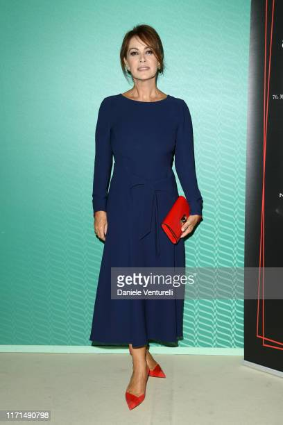 Elena Sofia Ricci attends the Filming in Italy press conference during the 76th Venice Film Festival at Excelsior Hotel on September 01 2019 in...