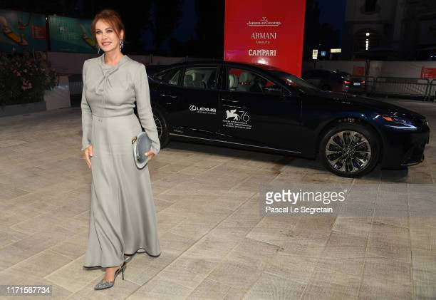 Elena Sofia Ricci attends the Filming In Italy red carpet during the 76th Venice Film Festival at Sala Grande on September 01 2019 in Venice Italy