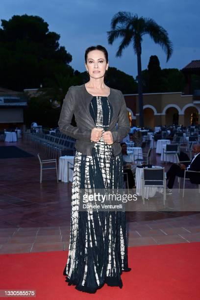 Elena Sofia Ricci attends the Filming Italy Festival at Forte Village Resort on July 25, 2021 in Santa Margherita di Pula, Italy.