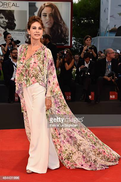 Elena Sofia Ricci attends the 'Hungry Hearts' premiere during the 71st Venice Film Festival on August 31 2014 in Venice Italy