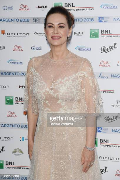Elena Sofia Ricci attends the Nastri D'Argento cocktail party on June 30 2018 in Taormina Italy