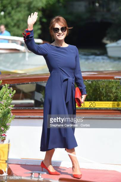 Elena Sofia Ricci is seen arriving at the 76th Venice Film Festival on September 01 2019 in Venice Italy